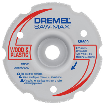 "SM600 3"" Wood & Plastic Flush Cut Wheel"